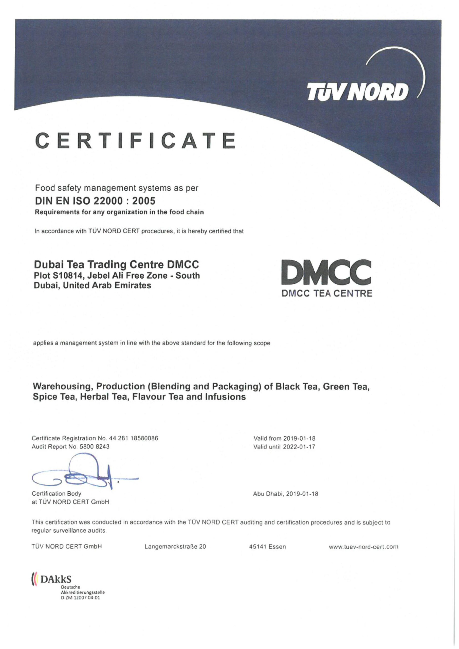 2-DTTC- ISO-22000- Food Safety management-2022